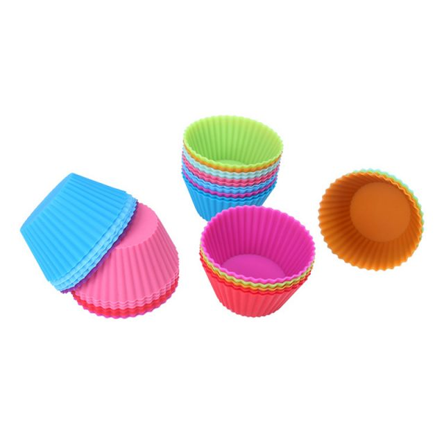 Reusable Round Shaped Eco-Friendly Silicone Cupcake Molds Set