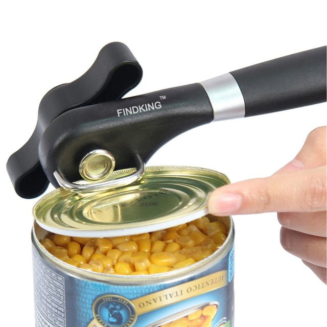 Ergonomic Stainless Steel Can Opener
