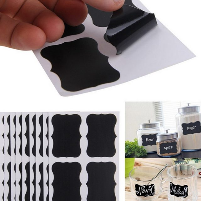 Erasable Kitchen Blackboard Stickers
