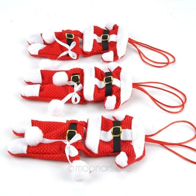 Christmas Santa Clothes Style Cutlery Bags Set