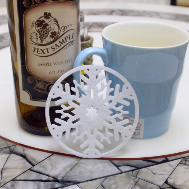 Christmas Snowflakes Cup Coasters