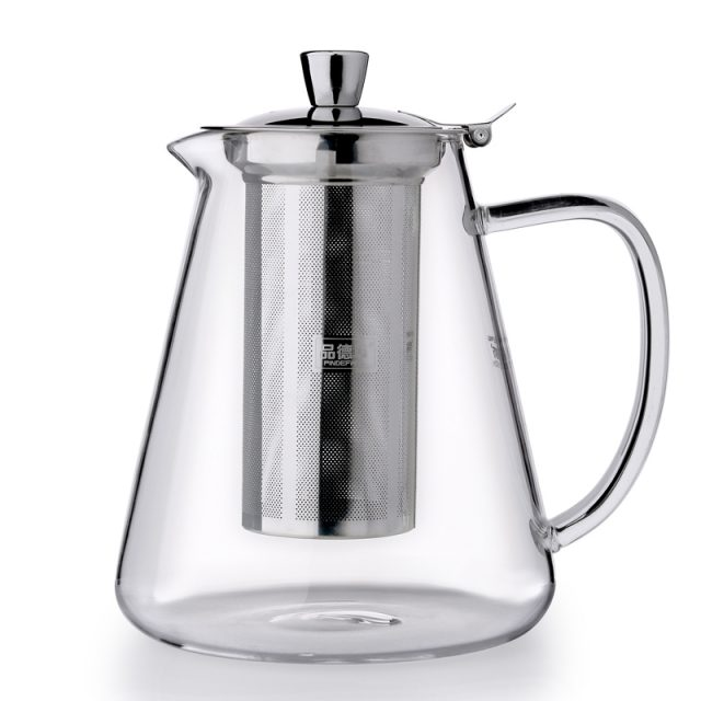 Glass Teapot with Steel Infuser