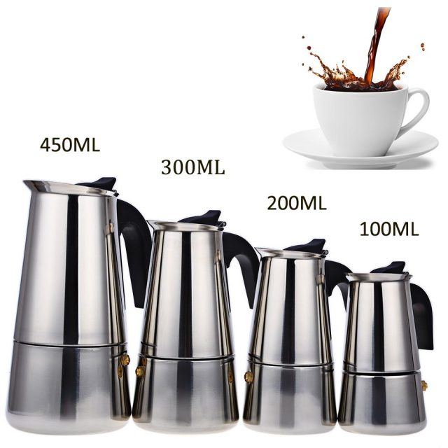 Stainless Steel Coffee Pot 100-400 ml