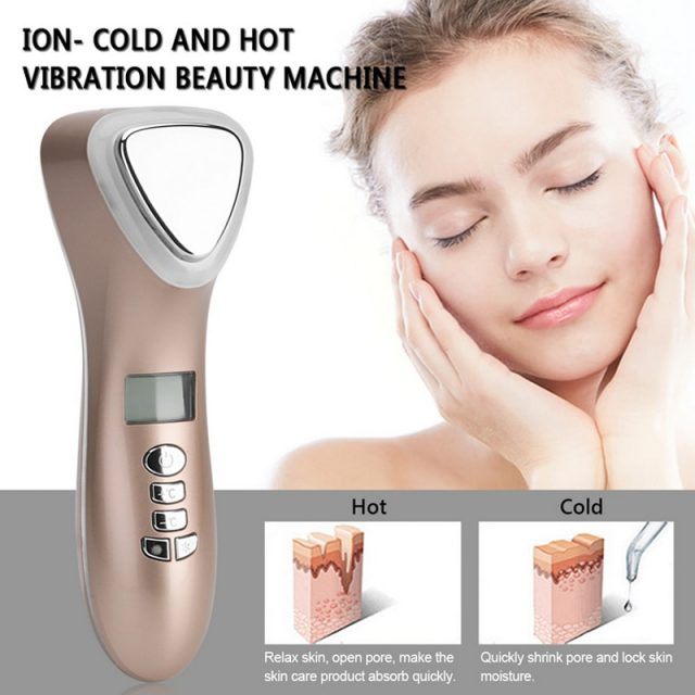 Ultrasonic Cryotherapy Face Massager
