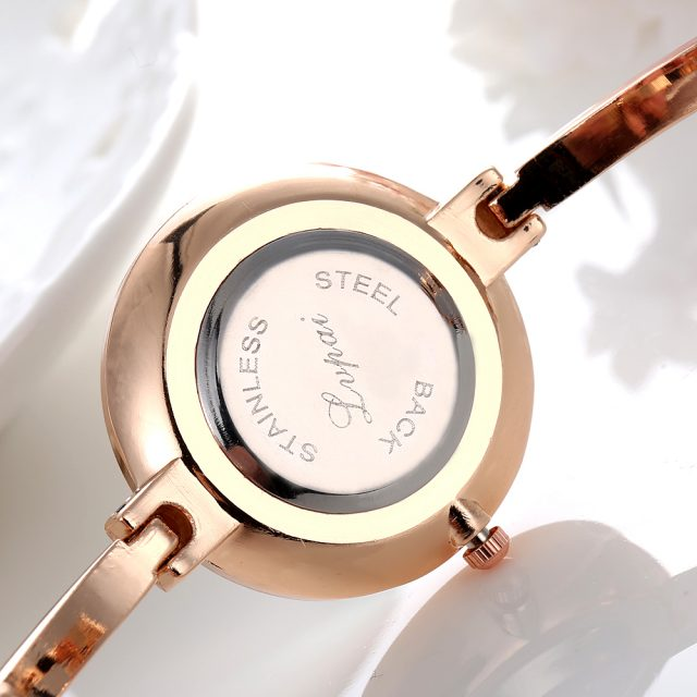 Women's Elegant Wristwatch with Thin Metal Band