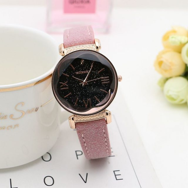 Women's Stars Printed Leather Watch