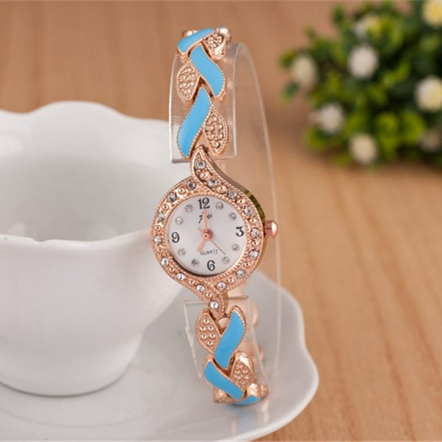 Women's Crystal Wave Bracelet Watches