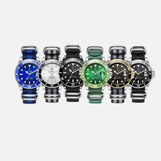 Luxurious Mechanical Watches with Stainless Steel Case and Strap