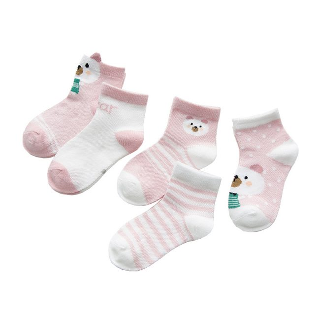 Cartoon Animal Patterned Cotton Baby Socks