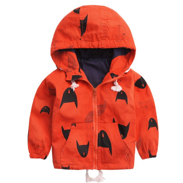 Baby Boy's Warm Cotton Hooded Jacket