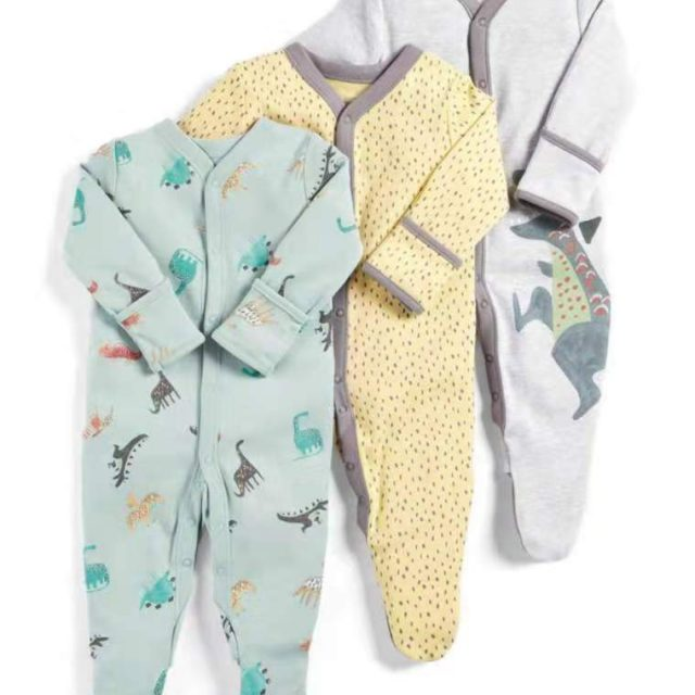 Baby's Long Sleeved Rompers 3 pcs Set