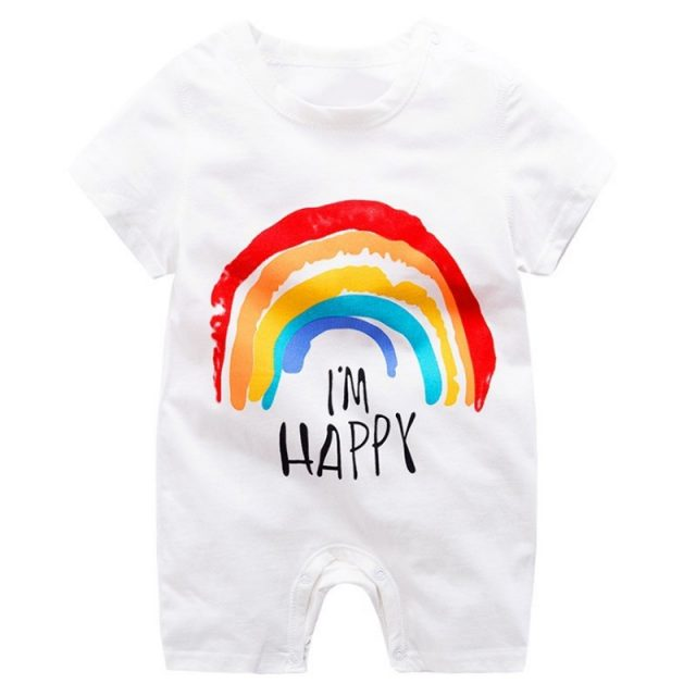 Colorful Cartoon Baby Boys Romper