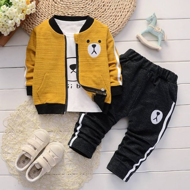 Boy's Cotton Clothing 3 pcs Set