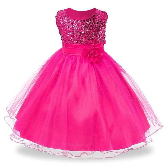 Girl's Party Ball Gown Sleeveless Dresses