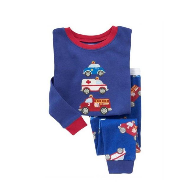 Kid's Colorful Printed Cotton Pajamas
