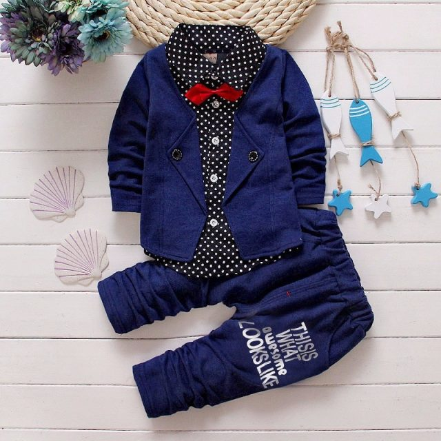 Boy's Formal Bow Tie Suit