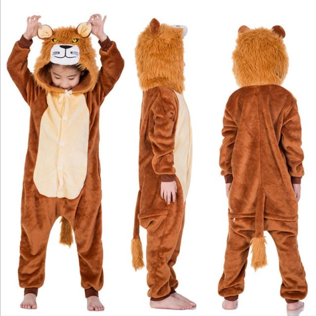 Kid's Cartoon Animal Styled Warm Kigurumi