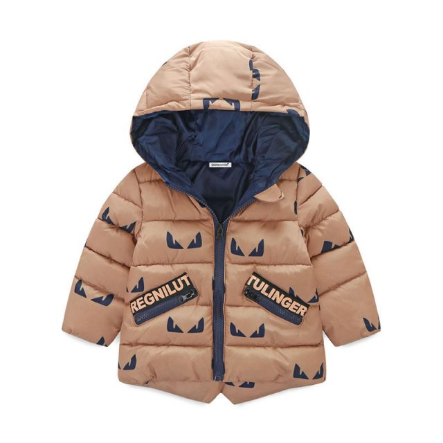 Waterproof Kids's Hooded Printed Jacket