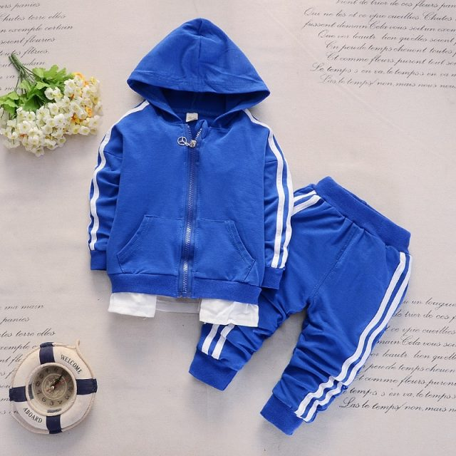 Kid's Hooded Cotton Sport Set
