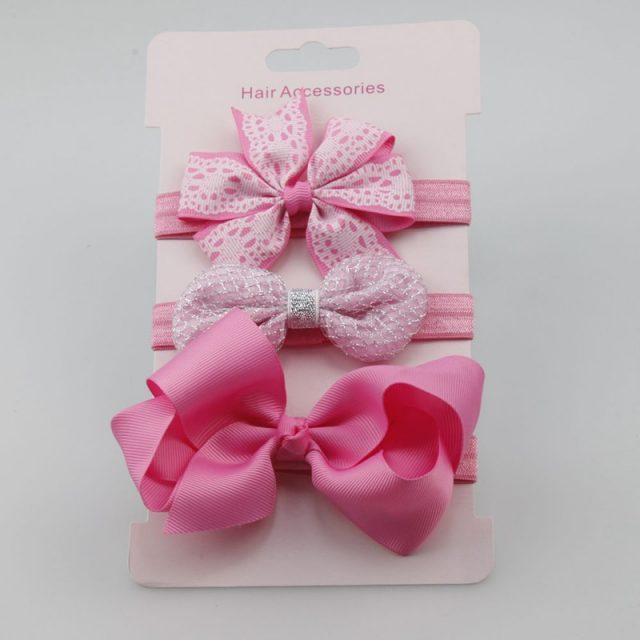 Baby Girls Floral Headbands 3 pcs Set