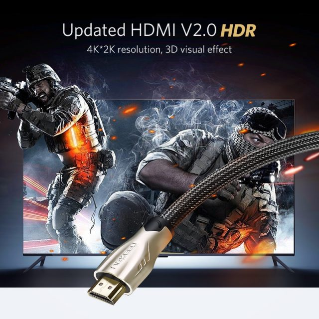 4K HDMI to HDMI 2.0 Cable Cord for PS4 and Apple TV
