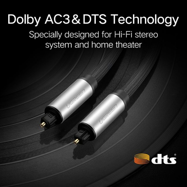 Digital Optical Fiber Audio Cable for TV Blue Ray