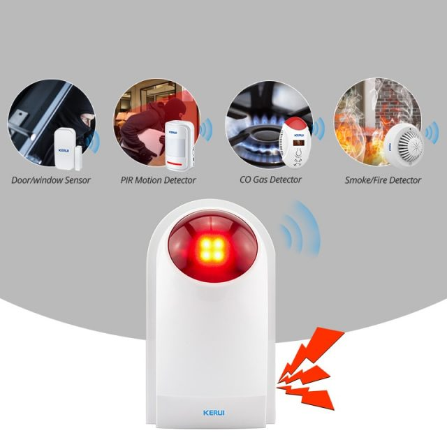 Wireless Flashing Alarm Strobe Light