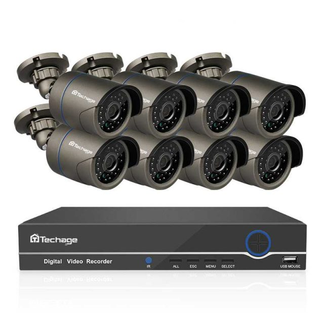 8 Channels 1080P Outdoor Security System