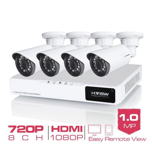 720P DVR Security System 4 pcs Set