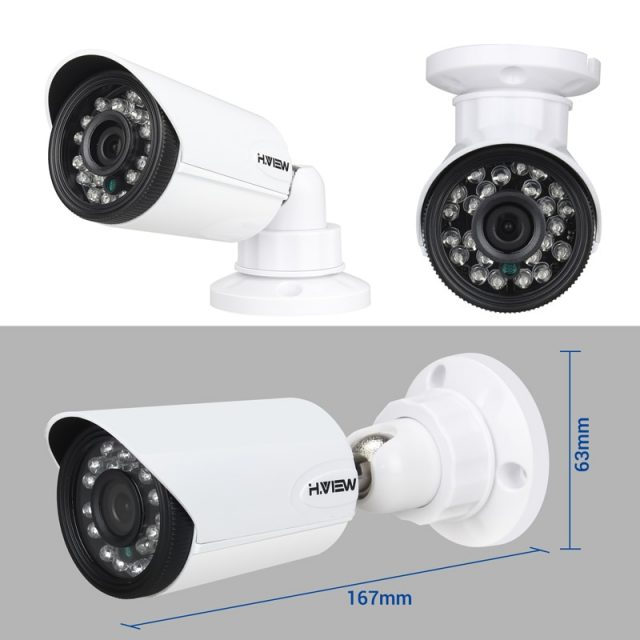 720P DVR Surveillance System 16 pcs Set