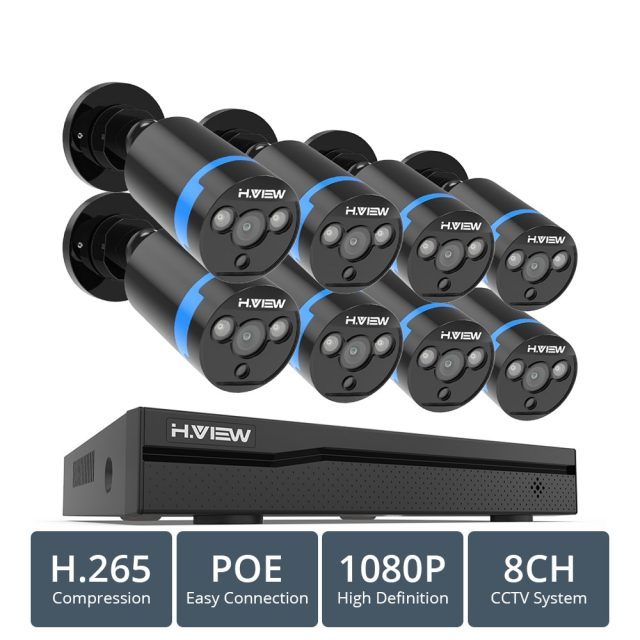 4 pcs 1080p Security Cameras with NVR System