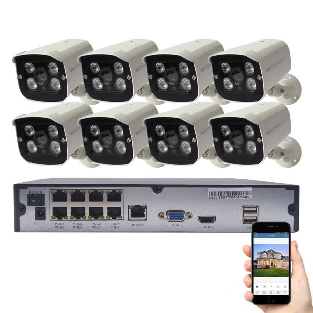 8 Channels Security Camera System