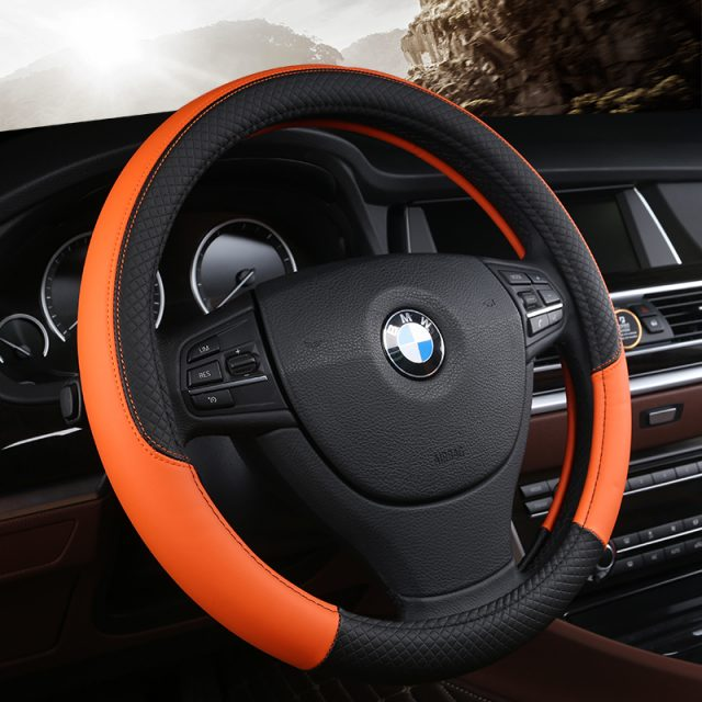 PU Leather Steering Wheel Covers