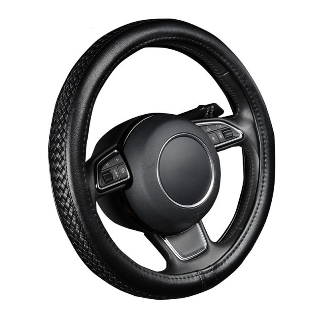 Steering Wheel Cover with Anti-Slip Braiding