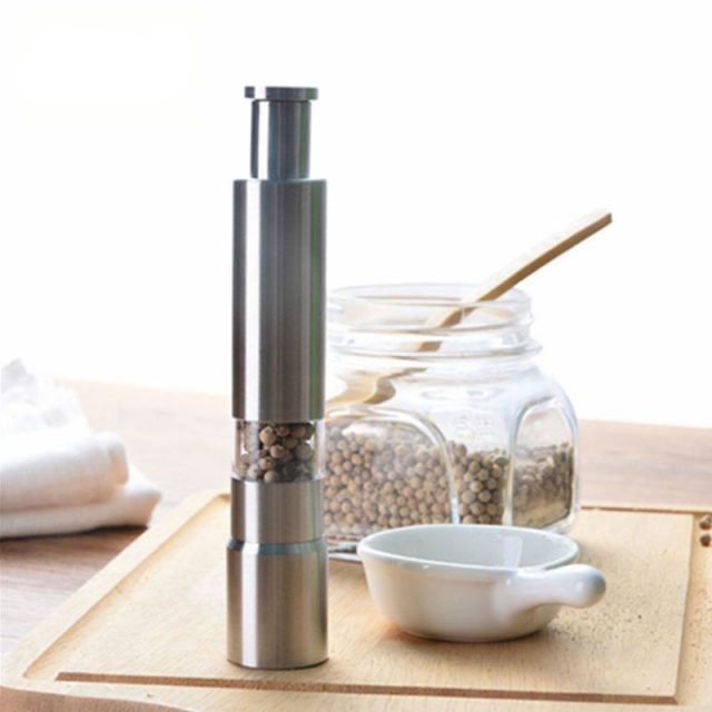Manual Stainless Steel Salt and Pepper Mills