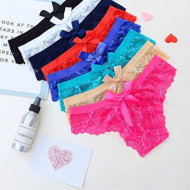 Women's Lace Bow Decorated Panties