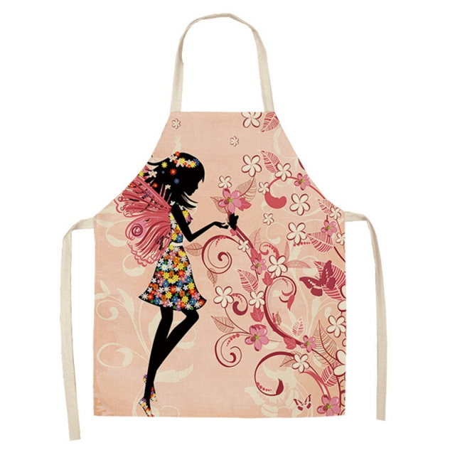 Women's Colorful Printed Cotton Apron