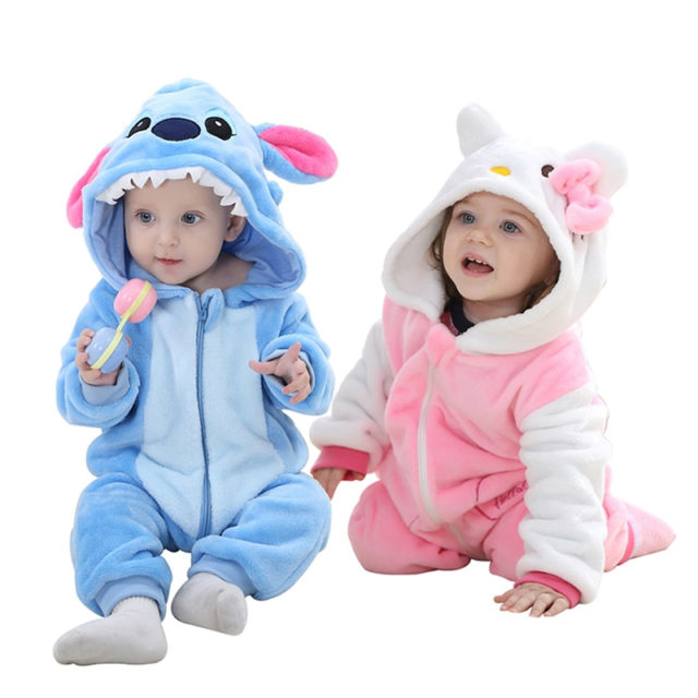 Newborn Baby Rompers Hooded Baby Clothes