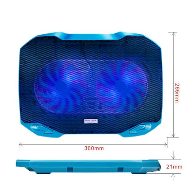 Dual Fan Cooler Notebook Cooler Cooling Pad USB 5V Laptop