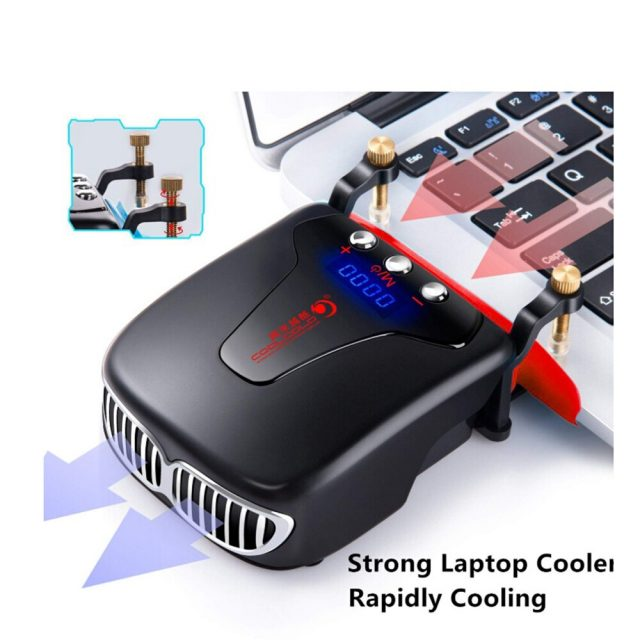 Vacuum Cooler USB Cooling Pad 5V for laptop with automatic temperature detection screen
